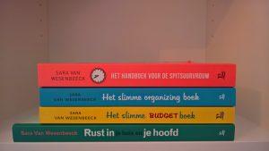 De vier bestsellers van life & business coach, professional organizer, bemiddelaar en spreker Sara Van Wesenbeeck - Barkingdogs;be