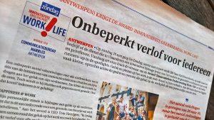 Artikel work-lifecoach Sara Van Wesenbeeck in De Zondag - www.barkingdogs.be