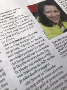 Budgetexpert Sara Van Wesenbeeck met budgetadvies in Humo's survivalgids voor de coronacrisis - www.barkingdogs.be