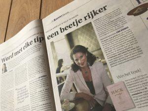 'Hack je budget', tweede budgetboek van bespaarexpert Sara Van Wesenbeeck - Win je gratis exemplaar in De Zondag - www.barkingdogs.be