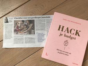 Checklist voor een goedkoper jaareinde van budgetexpert Sara Van Wesenbeeck in De Zondag - www.barkingdogs.be