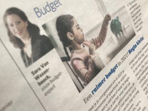 Budgettips van Sara Van Wesenbeeck in De Zondag: Begin klein - www.barkingdogs.be