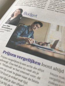 Prijzen vergelijken loont altijd - budgettips van expert Sara Van Wesenbeeck in De Zondag - www.barkingdogs.be